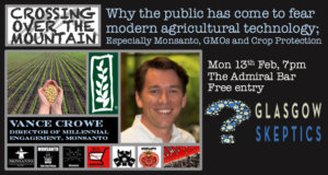Event image: Why the public has come to fear modern agricultural technology; Especially Monsanto, GMOs and Crop Protectio